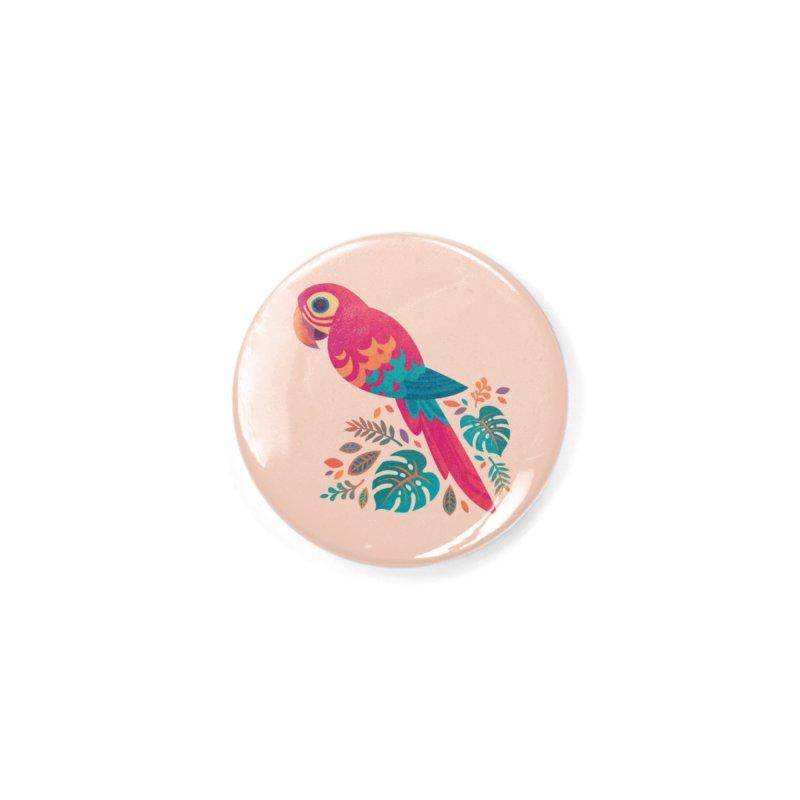 Scarlet Macaw Accessories Button by Waynem