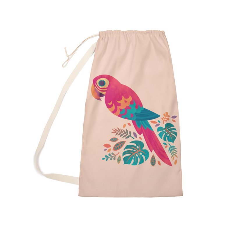 Scarlet Macaw Accessories Laundry Bag Bag by Waynem