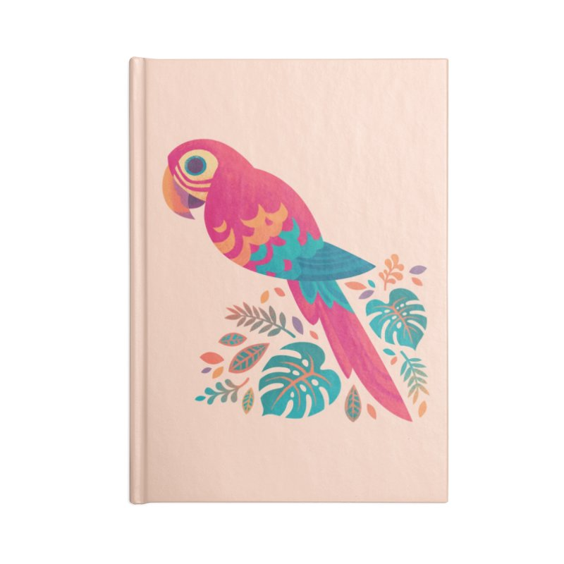 Scarlet Macaw Accessories Lined Journal Notebook by Waynem