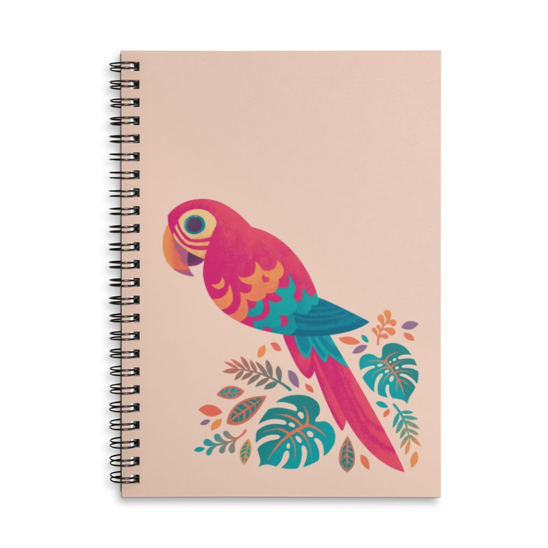 Scarlet Macaw Accessories Lined Spiral Notebook by Waynem