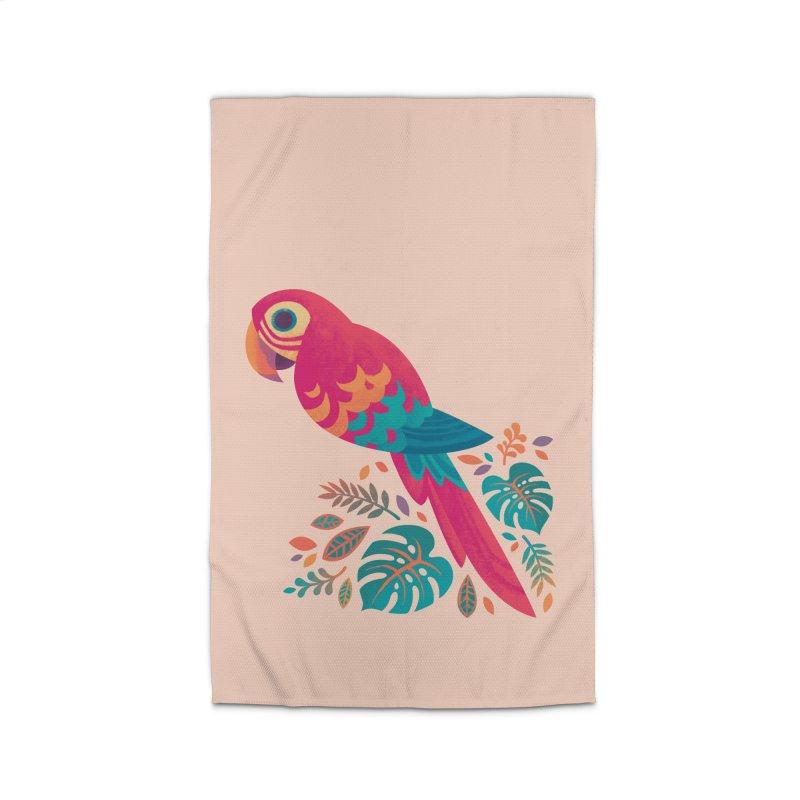 Scarlet Macaw Home Rug by Waynem