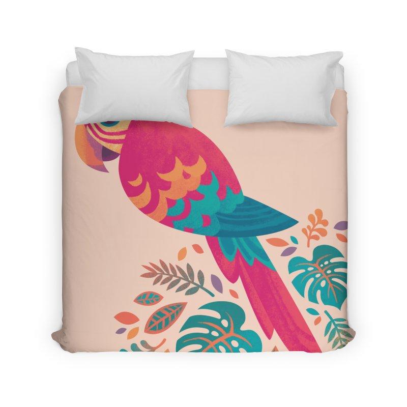Scarlet Macaw Home Duvet by Waynem