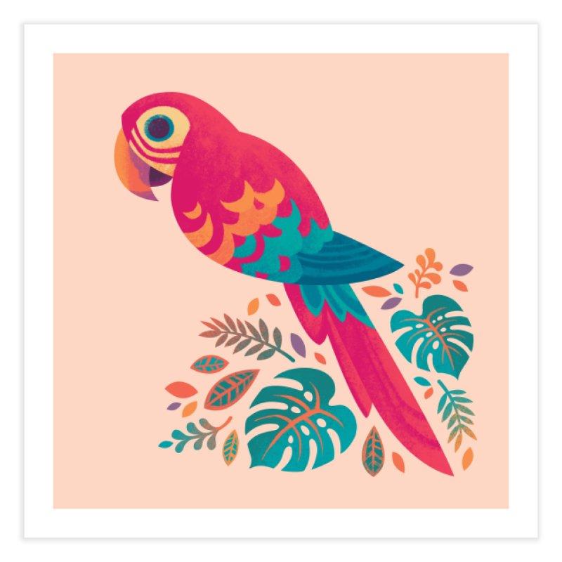 Scarlet Macaw Home Fine Art Print by Waynem