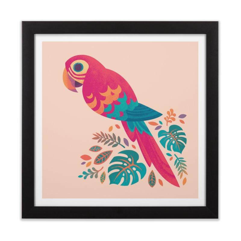 Scarlet Macaw Home Framed Fine Art Print by Waynem