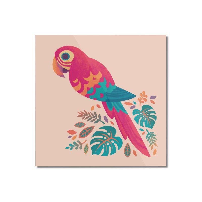 Scarlet Macaw Home Mounted Acrylic Print by Waynem