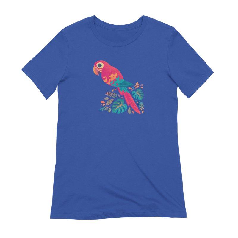 Scarlet Macaw Women's Extra Soft T-Shirt by Waynem