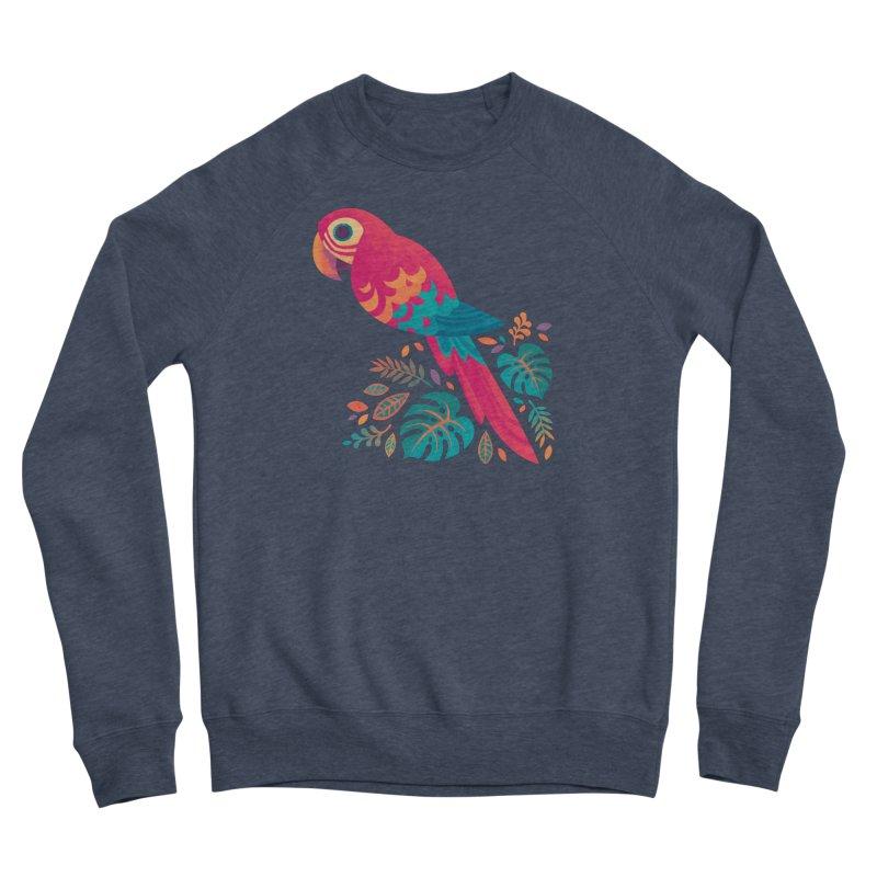 Scarlet Macaw Men's Sponge Fleece Sweatshirt by Waynem
