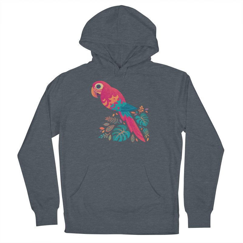 Scarlet Macaw Women's French Terry Pullover Hoody by Waynem