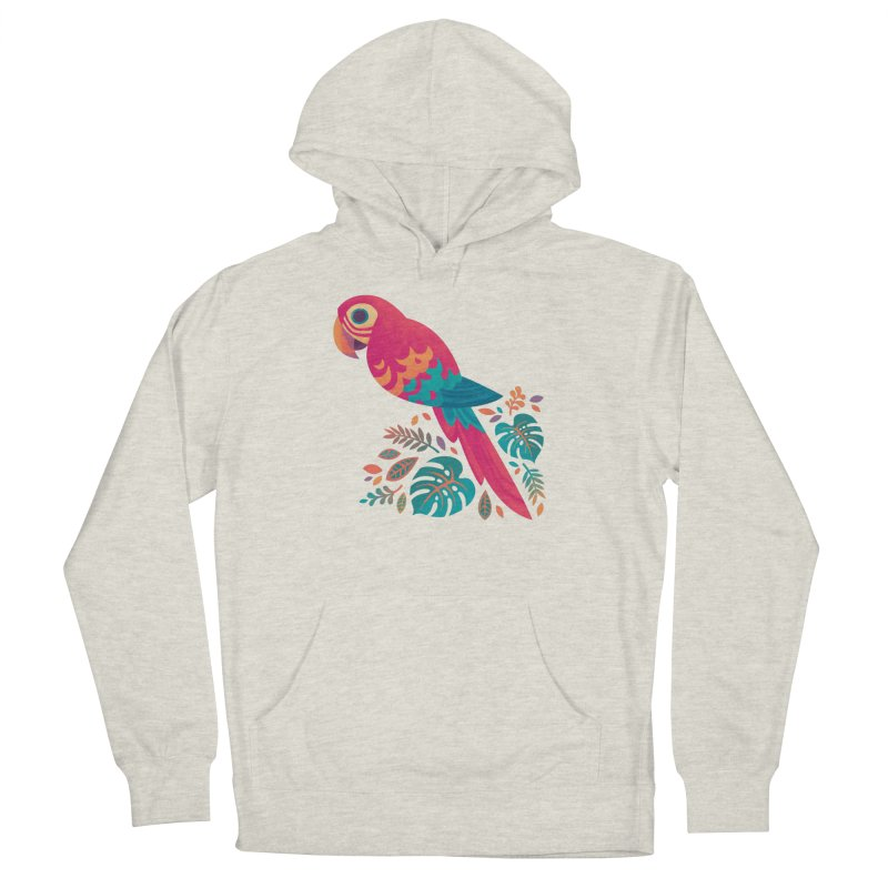 Scarlet Macaw Men's French Terry Pullover Hoody by Waynem