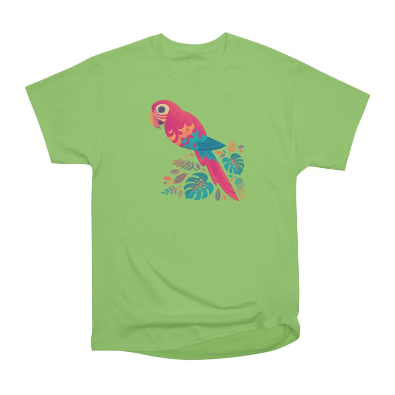 Scarlet Macaw Men's Heavyweight T-Shirt by Waynem