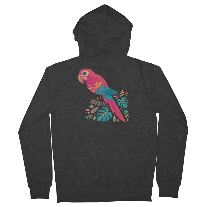 Scarlet Macaw Women's French Terry Zip-Up Hoody by Waynem