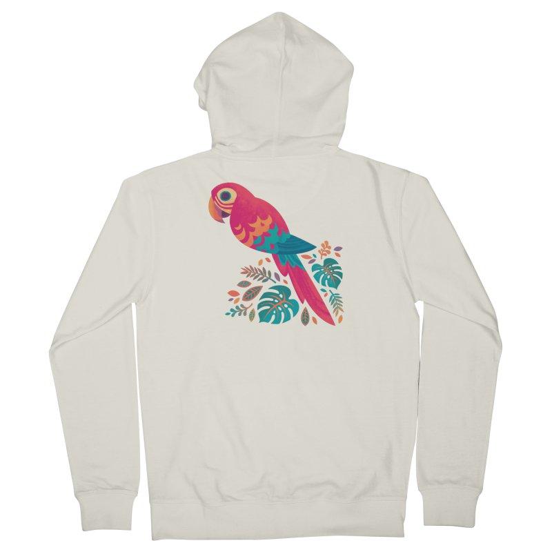 Scarlet Macaw Women's French Terry Zip-Up Hoody by Waynem
