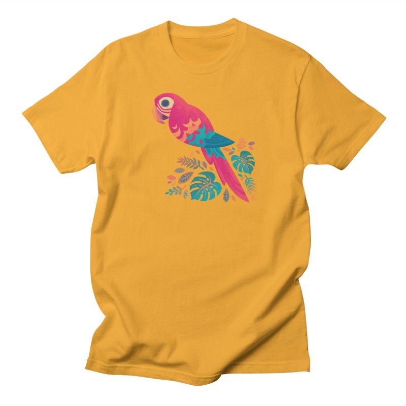Scarlet Macaw Men's Regular T-Shirt by Waynem