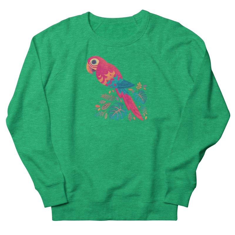 Scarlet Macaw Men's French Terry Sweatshirt by Waynem