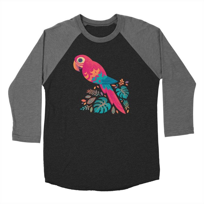 Scarlet Macaw Women's Baseball Triblend Longsleeve T-Shirt by Waynem