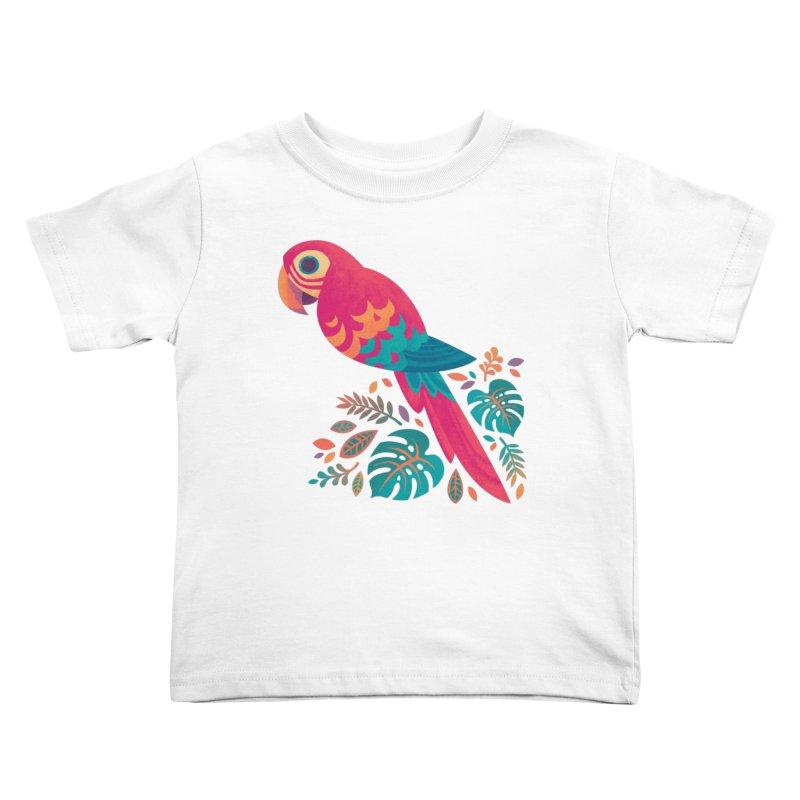 Scarlet Macaw Kids Toddler T-Shirt by Waynem