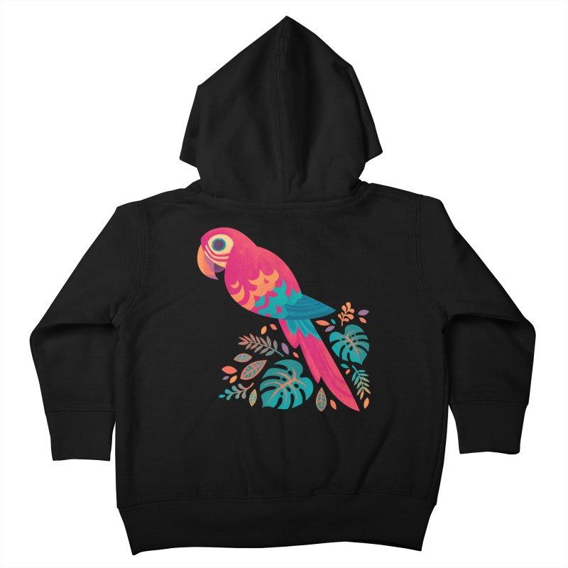 Scarlet Macaw Kids Toddler Zip-Up Hoody by Waynem