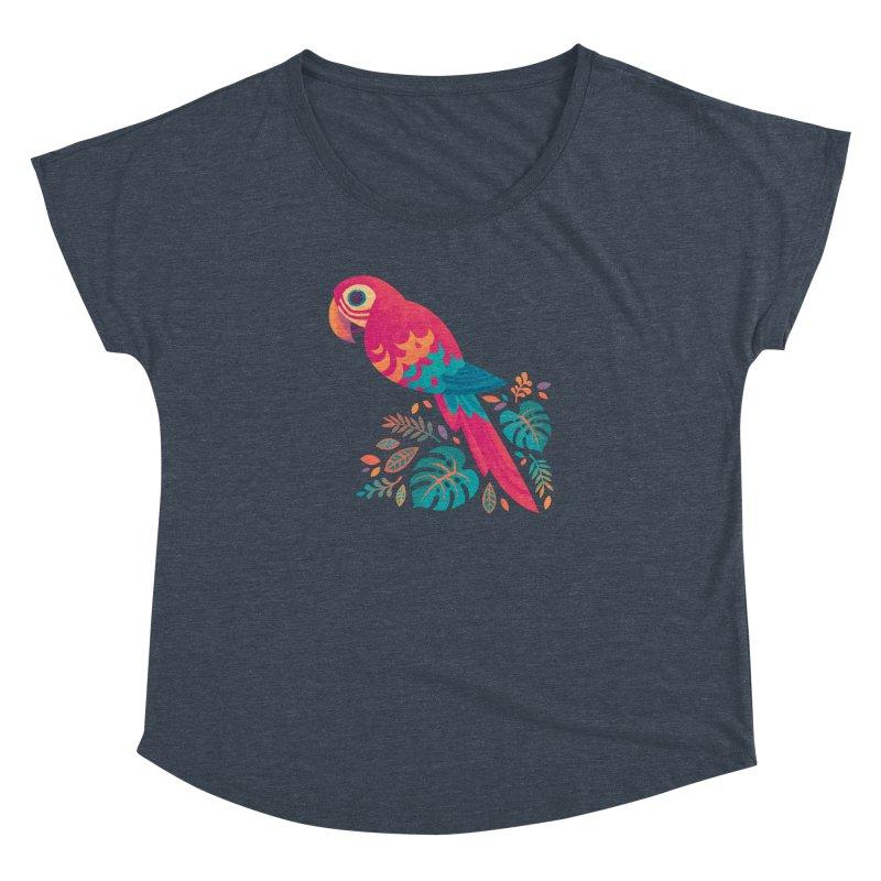 Scarlet Macaw Women's Dolman Scoop Neck by Waynem