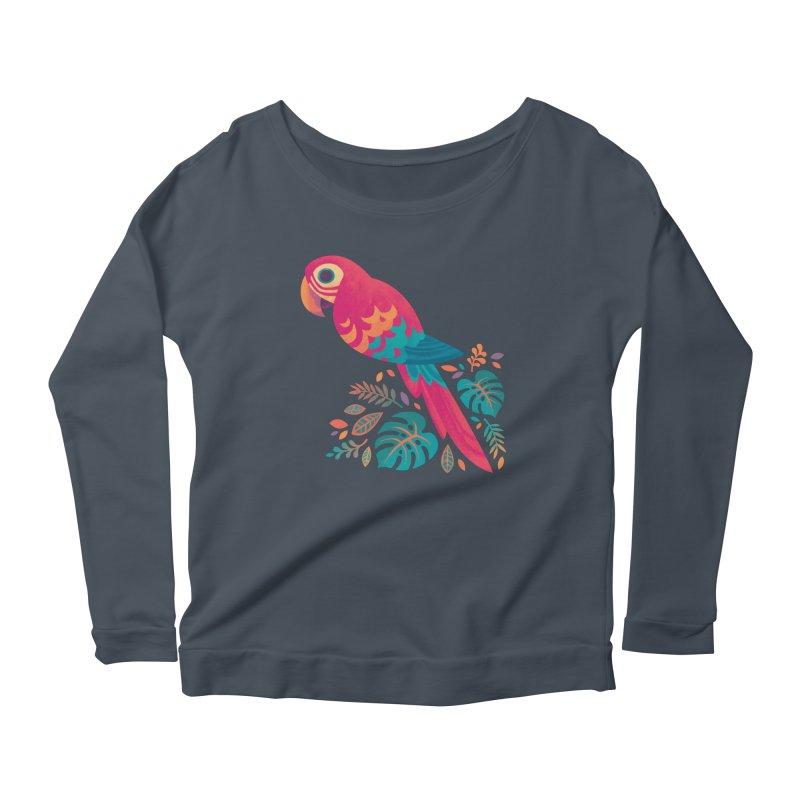 Scarlet Macaw Women's Scoop Neck Longsleeve T-Shirt by Waynem
