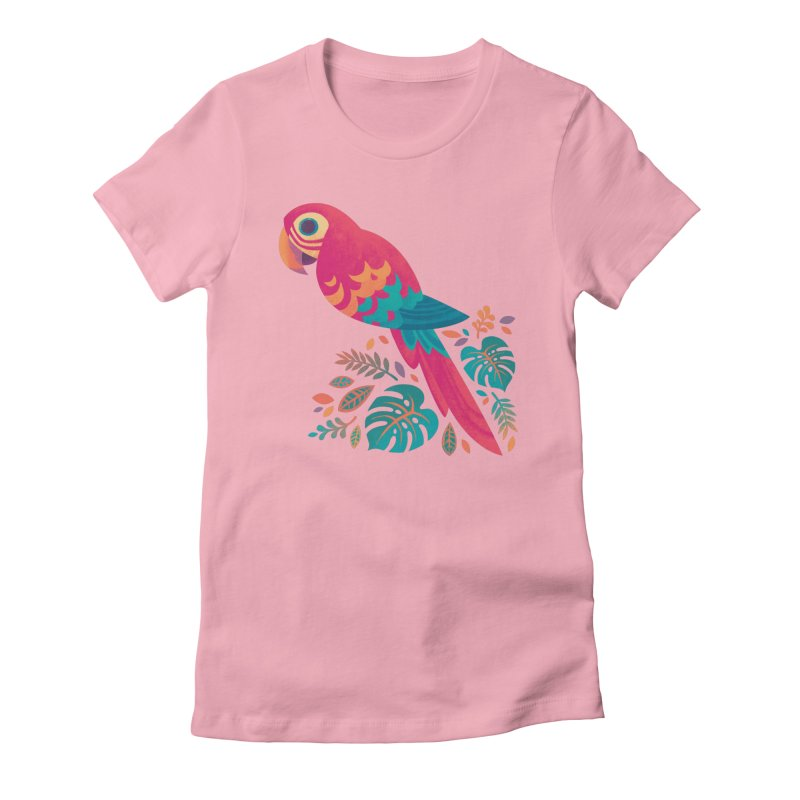 Scarlet Macaw Women's Fitted T-Shirt by Waynem