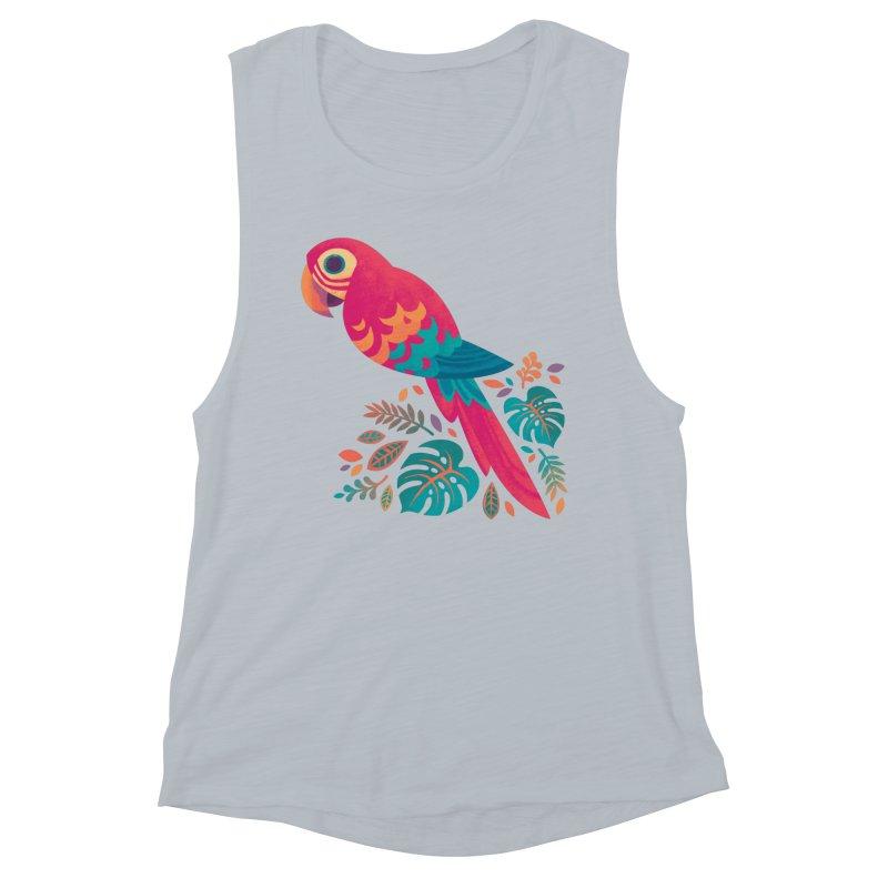 Scarlet Macaw Women's Muscle Tank by Waynem