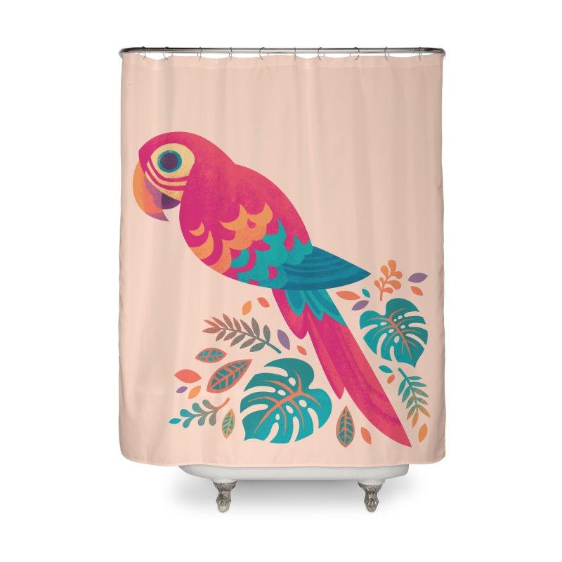 Scarlet Macaw Home Shower Curtain by Waynem