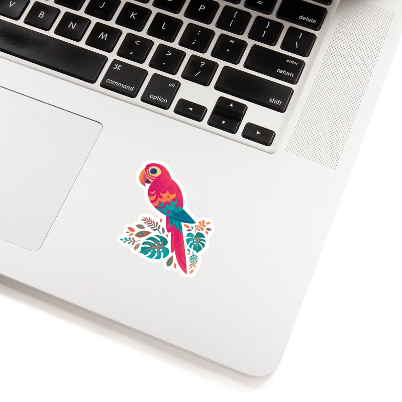 Scarlet Macaw Accessories Sticker by Waynem
