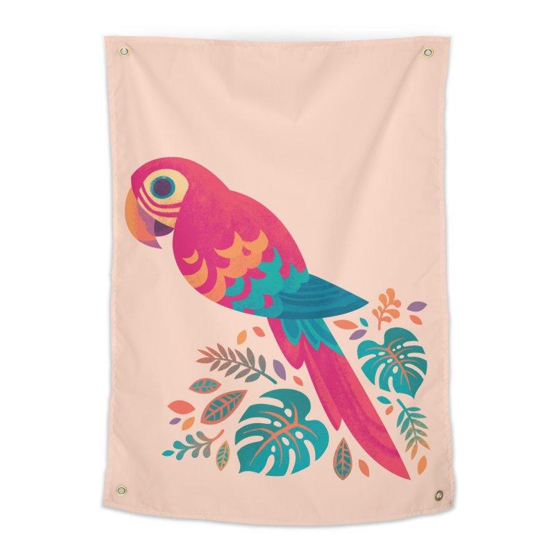 Scarlet Macaw Home Tapestry by Waynem