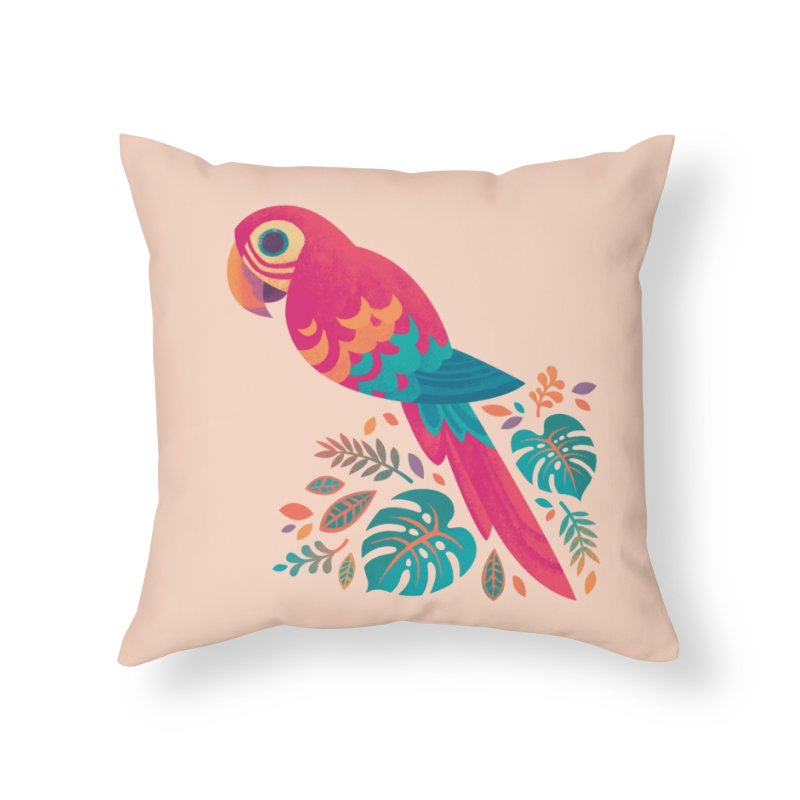 Scarlet Macaw Home Throw Pillow by Waynem