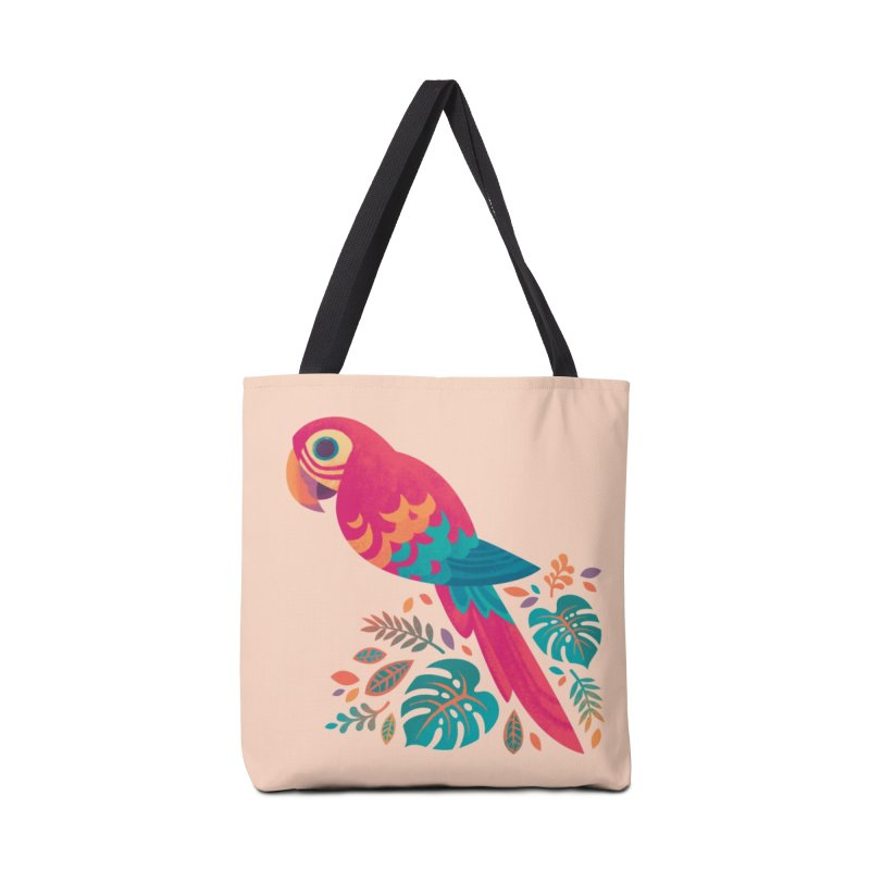 Scarlet Macaw Accessories Tote Bag Bag by Waynem