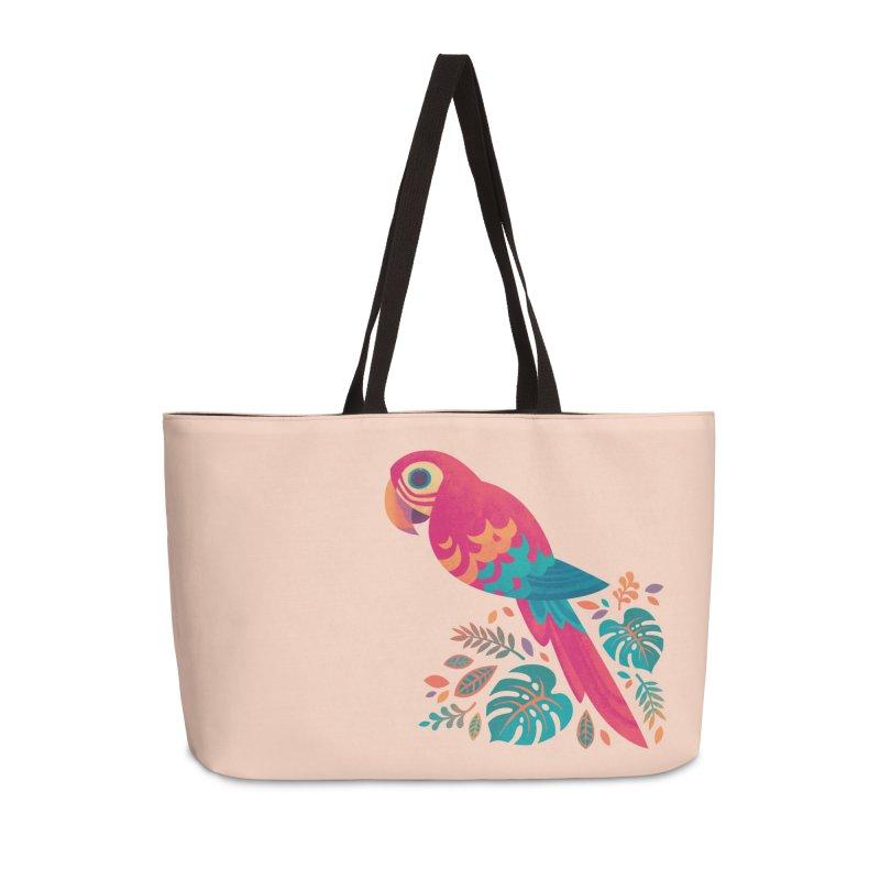 Scarlet Macaw Accessories Weekender Bag Bag by Waynem