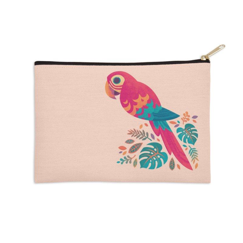 Scarlet Macaw Accessories Zip Pouch by Waynem