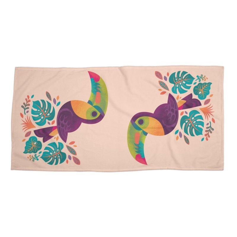 Tropical Toucan 2 Accessories Beach Towel by Waynem