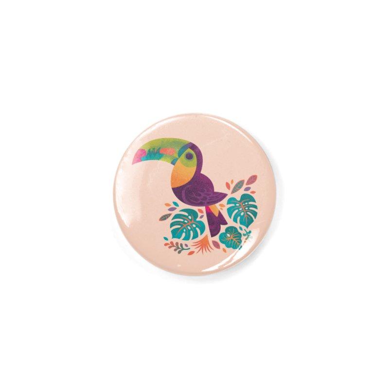 Tropical Toucan 2 Accessories Button by Waynem