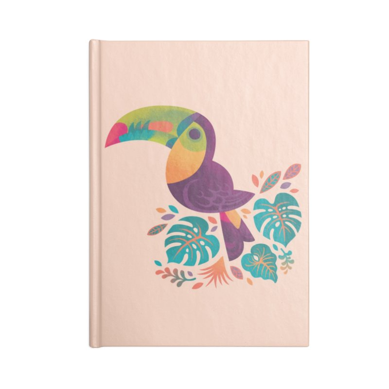 Tropical Toucan 2 Accessories Lined Journal Notebook by Waynem
