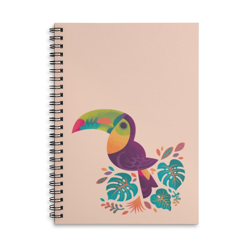 Tropical Toucan 2 Accessories Lined Spiral Notebook by Waynem
