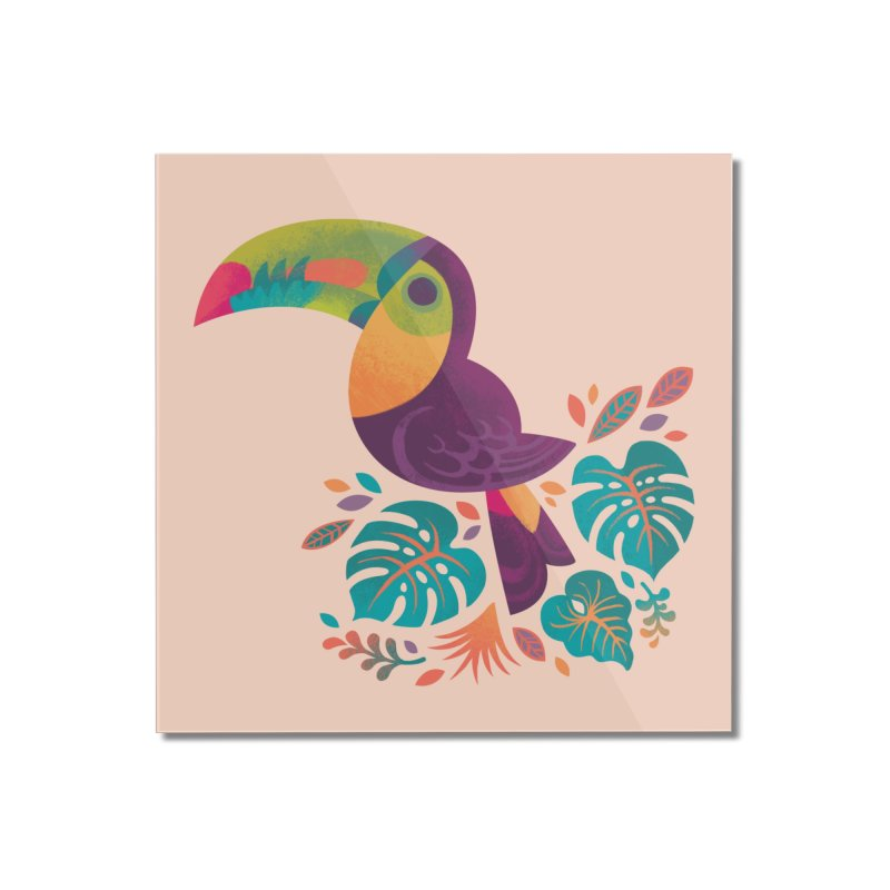 Tropical Toucan 2 Home Mounted Acrylic Print by Waynem
