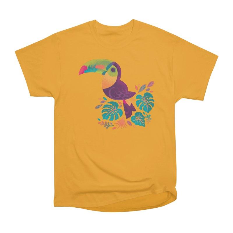 Tropical Toucan 2 Men's Heavyweight T-Shirt by Waynem