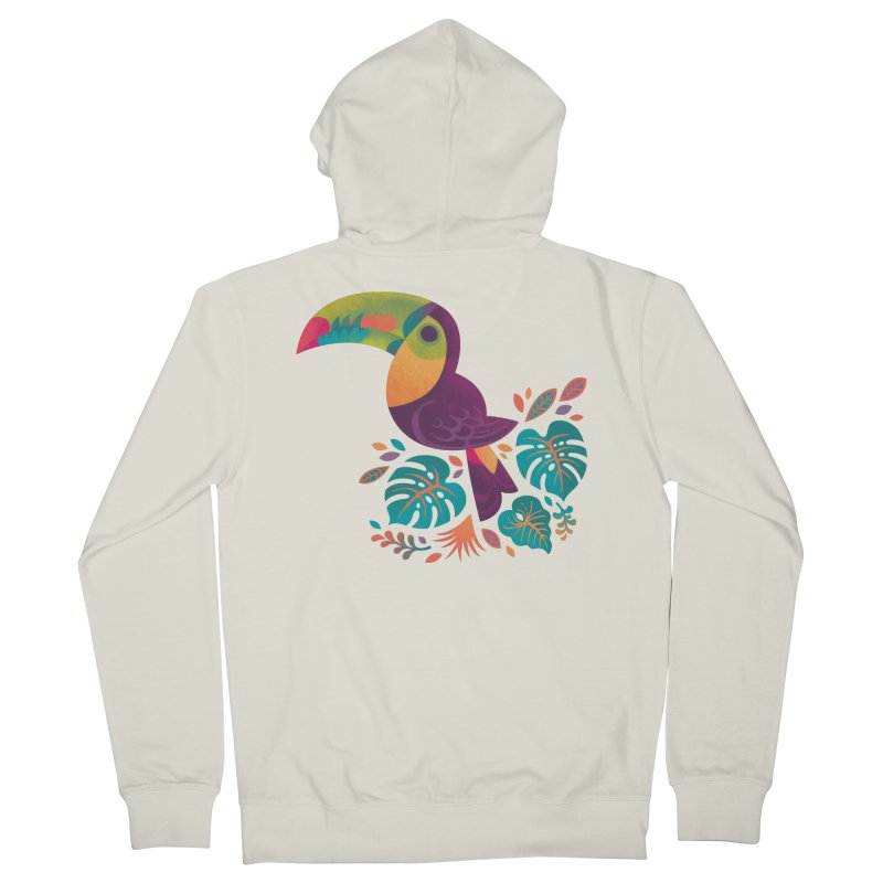 Tropical Toucan 2 Women's French Terry Zip-Up Hoody by Waynem