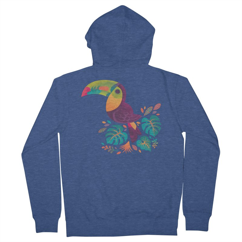 Tropical Toucan 2 Men's French Terry Zip-Up Hoody by Waynem