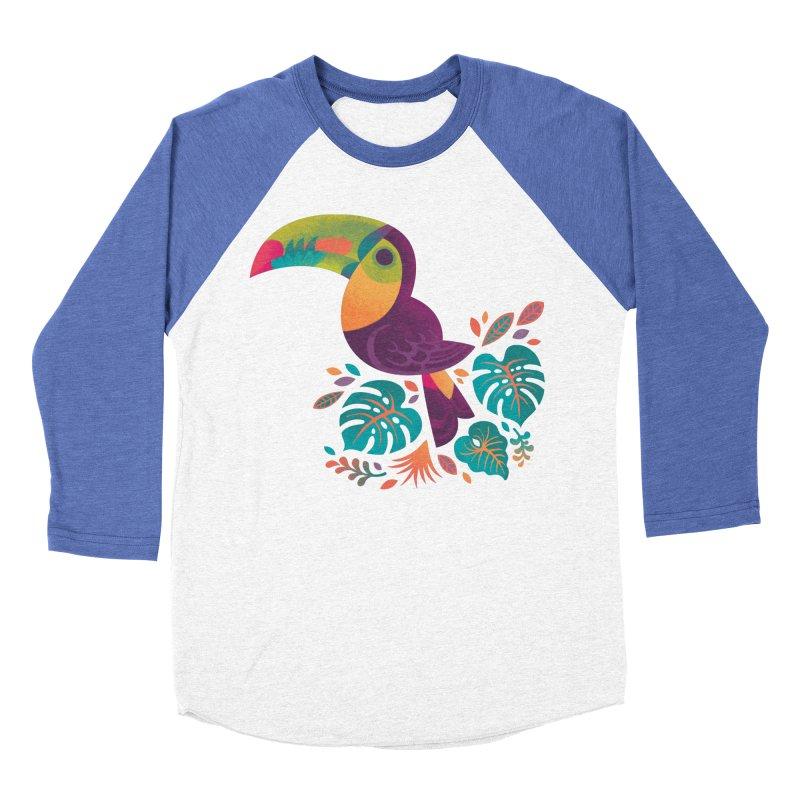 Tropical Toucan 2 Women's Baseball Triblend Longsleeve T-Shirt by Waynem