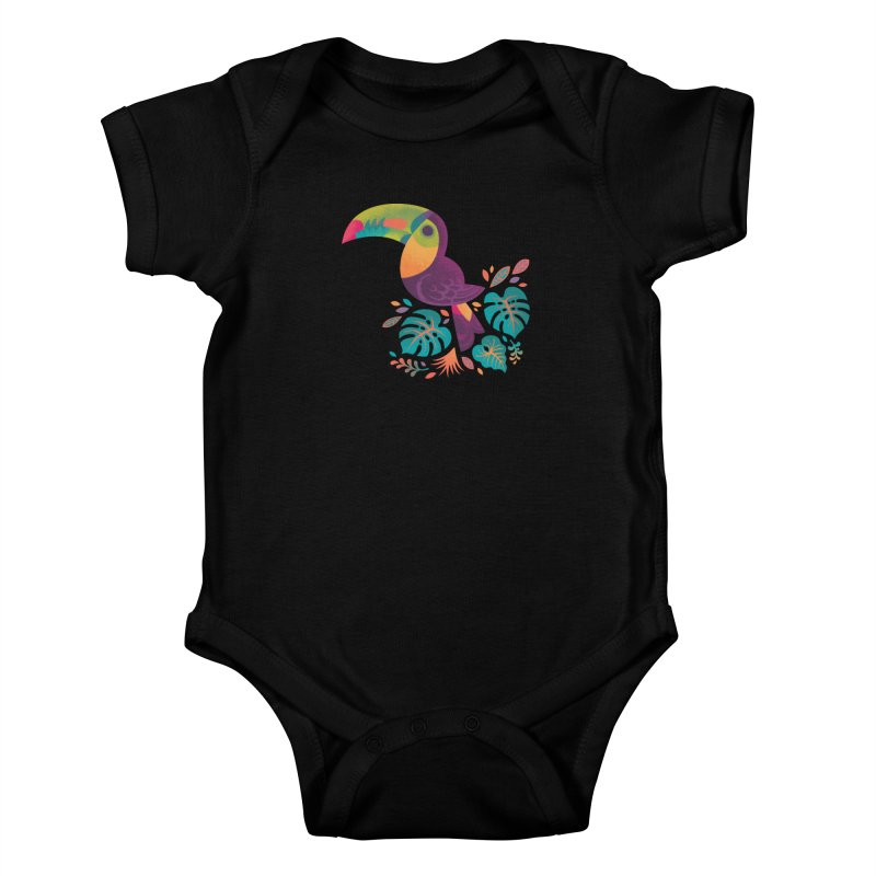 Tropical Toucan 2 Kids Baby Bodysuit by Waynem