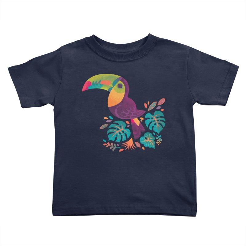 Tropical Toucan 2 Kids Toddler T-Shirt by Waynem