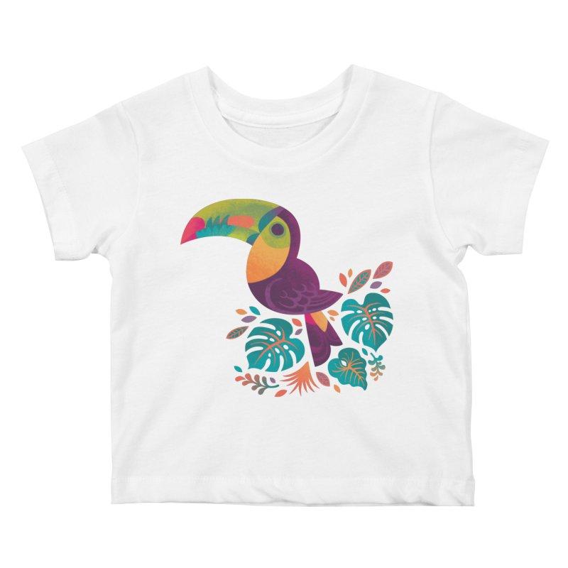 Tropical Toucan 2 Kids Baby T-Shirt by Waynem
