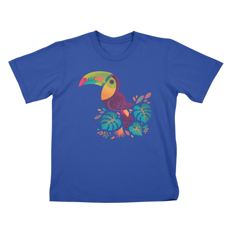 Tropical Toucan 2 Kids T-Shirt by Waynem