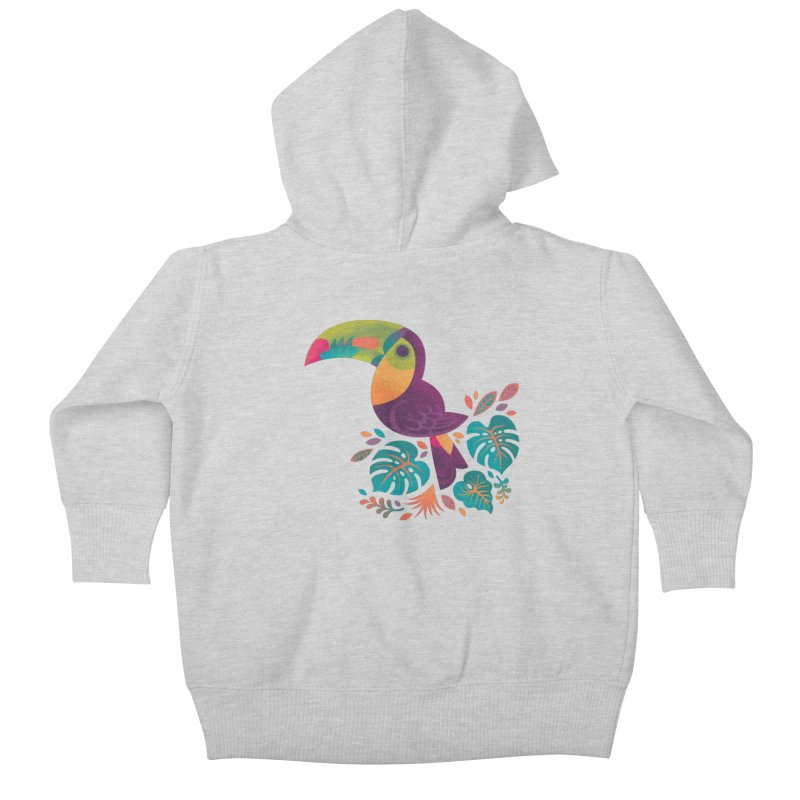 Tropical Toucan 2 Kids Baby Zip-Up Hoody by Waynem