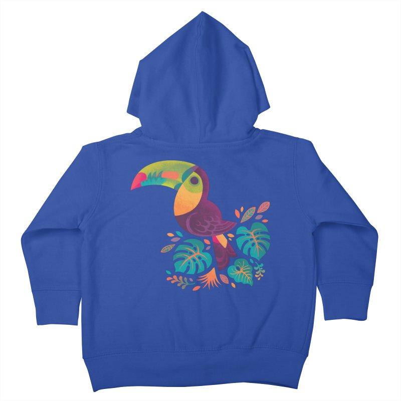 Tropical Toucan 2 Kids Toddler Zip-Up Hoody by Waynem