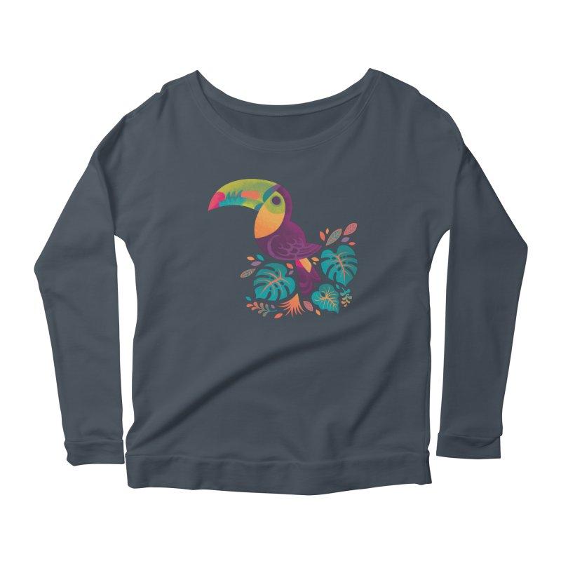 Tropical Toucan 2 Women's Scoop Neck Longsleeve T-Shirt by Waynem