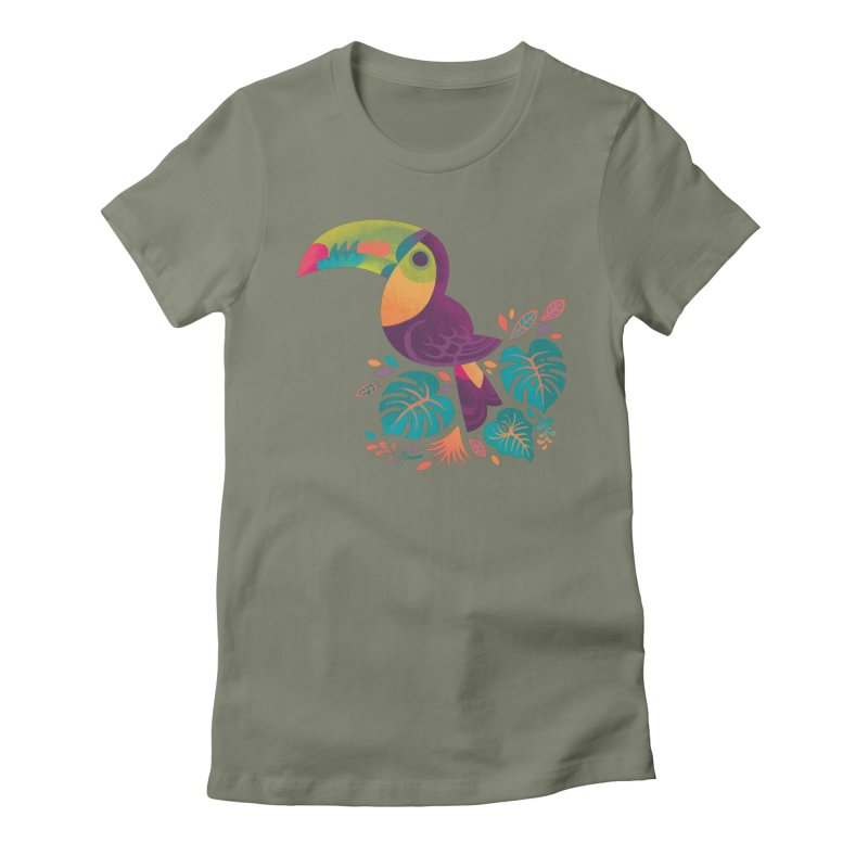 Tropical Toucan 2 Women's Fitted T-Shirt by Waynem