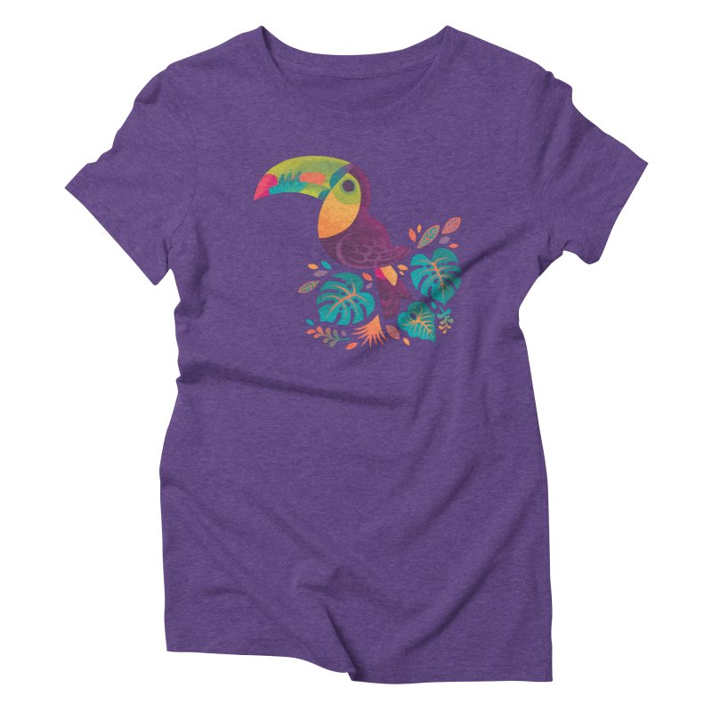 Tropical Toucan 2 Women's Triblend T-Shirt by Waynem